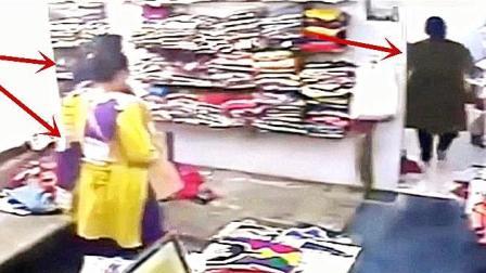 兩女子服裝店買衣服, 老板娘剛進屋, 監控就拍下了這樣的一幕!