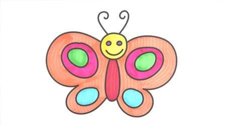 儿童学画简笔画: 简单漂亮的小蝴蝶 涂鸦画画入门美术