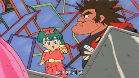 神龙斗士小渡被机械人玩虐,镜子里惊现河马没想结果笑惨了
