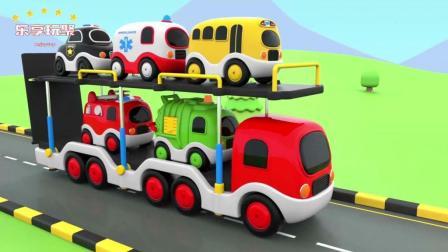 少儿学习的颜色屋彩色卡通工具车学习汽车知识-乐享玩聚