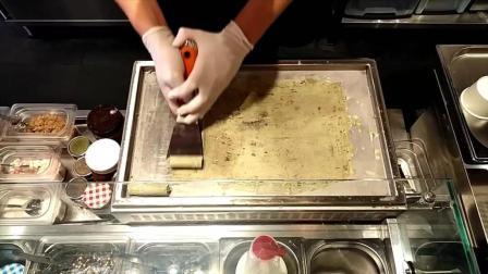 炒冰淇淋卷合集: 咖喱比萨、草莓芝士蛋糕、华夫饼泰国冰淇淋卷