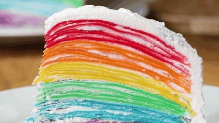 创意美食 漂亮的彩虹蛋糕, 食物才是最美的情书