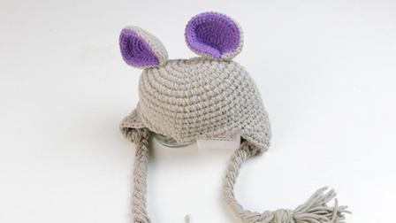 雅馨绣坊帽子编织视频第2集老鼠护耳帽下集手工编织网