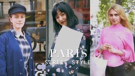 实拍巴黎街拍美女, 被50秒处小姐姐的眼神撩到