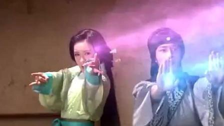 两大妖怪网仙绳捆住暗杀小伙子, 小伙子纯阳剑道家罡气打对方逃跑