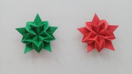 漂亮的装饰花折纸 手工折纸亲子互动视频教学大全 幼儿乐园