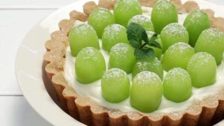 甜品美食诱惑 制作超级美味的青葡萄慕斯挞!