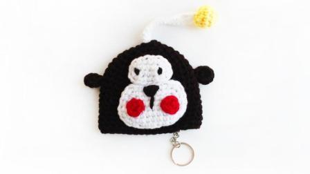 织一片慢生活-猴子钥匙包手工编织视频教程粗毛线手工编织