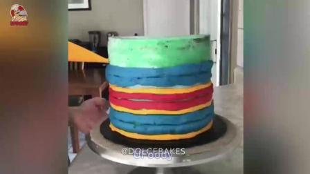 美味漂亮蛋糕制作过程, 满意的蛋糕裱花装饰