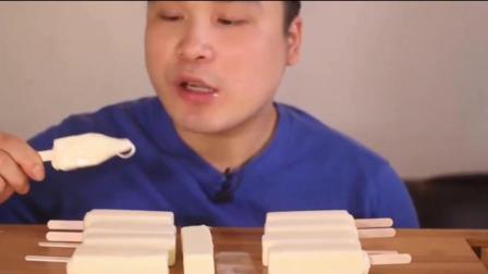 韩国吃播大胃王donkey吃10根牛奶雪糕和可乐冰棍