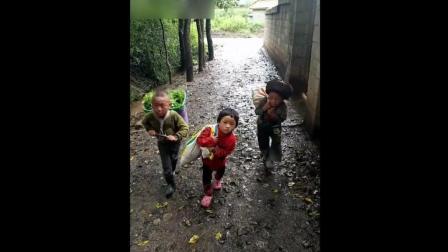 农村孩子早当家, 五岁孩子干农活, 让人心疼!