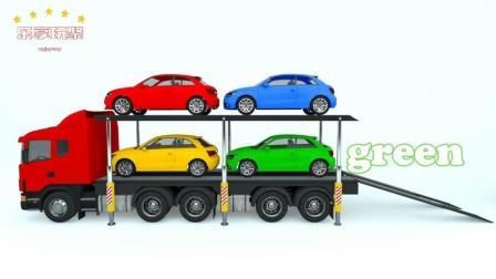 少儿学习的颜色屋彩色小车大型运输车-乐享玩聚