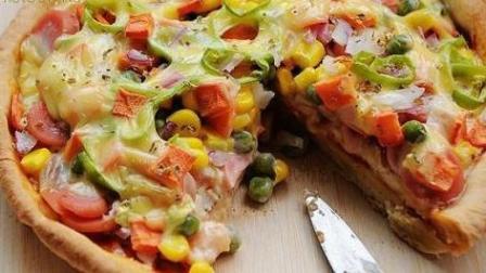 玉米火腿芝士披萨饼