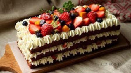 4分钟学会动手制作巧克力裸蛋糕, 做法简单非常美味!