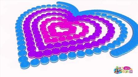 儿童早教欢乐谷 2017 用曲奇饼干汉堡包组合成各种形状学习颜色 342 用汉堡包组合成形状学颜色