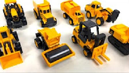 挖掘机视频表演 儿童卡车铲车工作视频