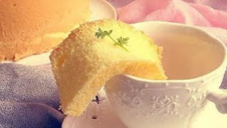 """低油低糖低粉版健康""""戚风蛋糕"""", 戚风蛋糕的家常做法。"""