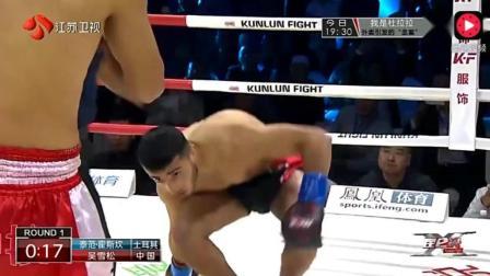 世界冠军口出狂言说可以吊打中国拳手 结果上场就被重击KO站着睡着