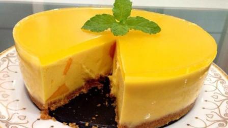 一道美味香甜的芒果乳酪蛋糕