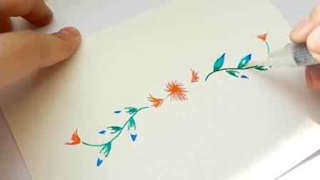 """创意艺术-钢笔墨水""""渲染""""花边"""