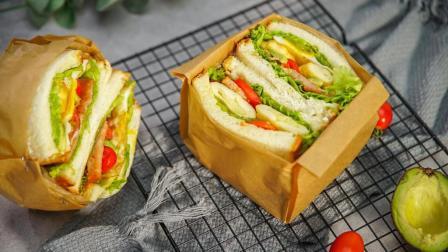 魔力美食 第一季 3分钟搞定早餐三明治 很多人都不会做 其实很简单 16