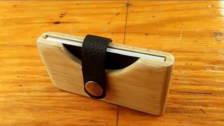 创意木艺: 手工达人用木块DIY自制木质名片盒, 成品还挺高大上的