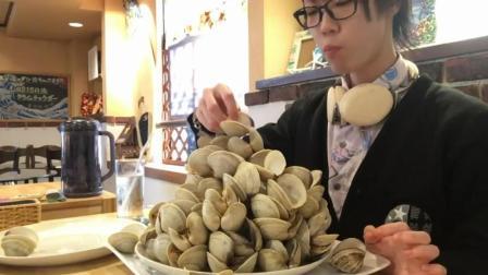 日本大胃王耳机小哥, 这是吃的什么海鲜? 这顿饭又吃了10斤!