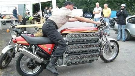 拥有48缸发动机的摩托车, 手短骑不了, 能上路吗?