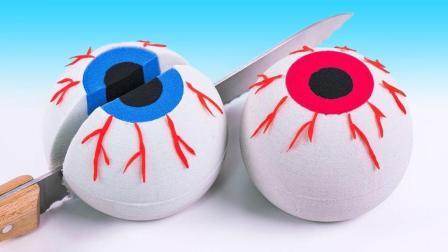 大眼球碰到了手残党怎么办? 早教认知游戏, 太空沙创意DIY视频教程送给你!