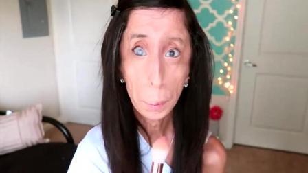 世界上最丑的女人给自己录了一个化妆视频, 能看完的都是牛人!