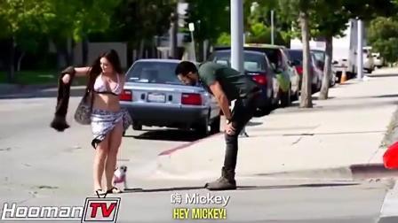 小伙开豪车街头搭讪拜金女 美女最后不屑一顾