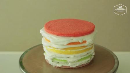 让你每天都有好心情: 彩虹水果蛋糕