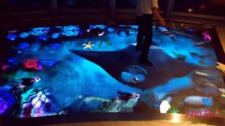 红外感应LED地砖互动-鱼水互动-火米互动