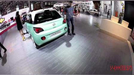 LED地砖互动屏在车展上的应用-火米互动