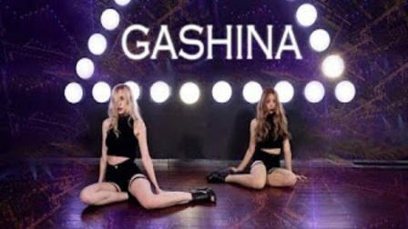 金发长腿颜值美女性感高跟翻跳-Gashina