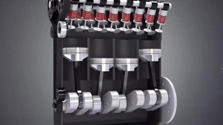 汽车发动机原理, 看看引擎气缸工作过程是怎样操作。