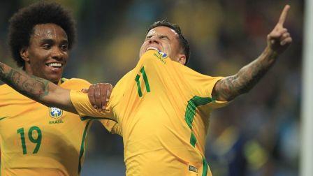 世预赛-暴力鸟库蒂尼奥破门 巴西2-0取9连胜领先11分