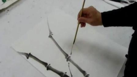 书画爱好者水墨画竹子入门画法