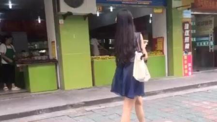 杭州街头套路搭讪美女大学生, 妹子的回答好暖