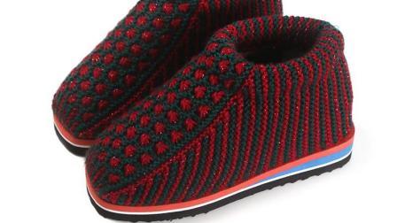 巧手女工编织坊第三集 双色太阳花棉鞋编织教学视频纯手工编织毛线鞋编织教程