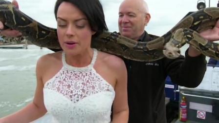 新娘肩抗大蟒蛇 这样的创意婚礼你要不要? 114