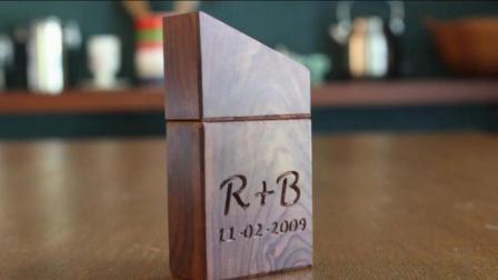 创意手工: 木艺爱好者用木头DIY自制精致的木质戒指盒