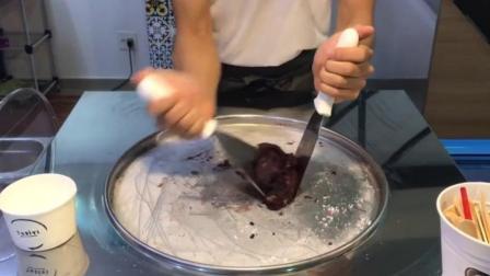 风靡全球的街头美食-炒冰激凌卷 巧克力百香果味|ICE CREAM ROLLS(╯▽╰ )