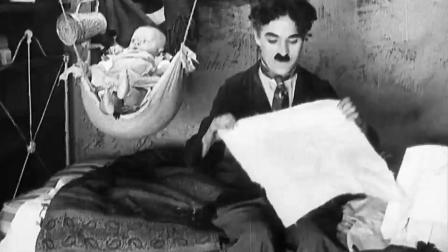 卓别林用天才般表演演绎精彩, 小孩配合默契, 砸玻璃很喜感