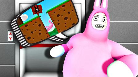【屌德斯解说】 超级兔子男 利用游戏BUG练就绝世武功兔子坐电梯!