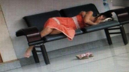 美女你这样在办公室睡觉, 不怕被你男人打死么?