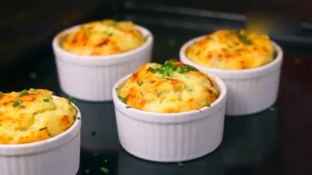 【土豆泥舒芙蕾】做法超简单哦, 手动打蛋白一看就是吃货中的高手, 不用多说的简单美味!