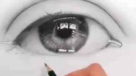 艺术家 Emmykalia 的素描作品, 一滴眼泪。卧槽, 竟然如此逼真!