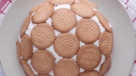 创意美食 美味的圆顶饼干蛋糕, 不能吃太胖哦