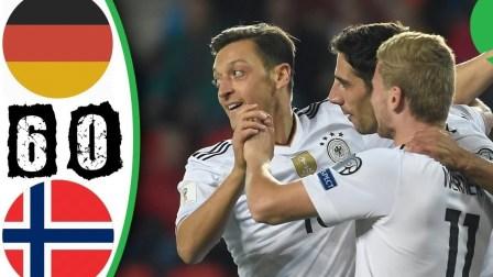 世预赛-厄齐尔破荒加助攻穆勒两助锋霸 德国6-0挪威